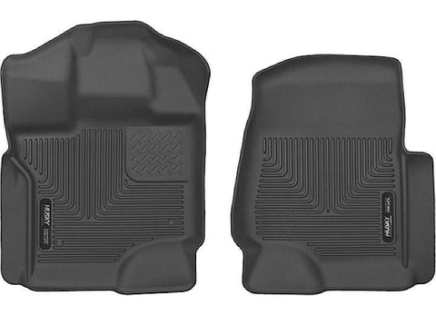 HUSKY FRONT FLOOR LINERS X-ACT CONTOUR SERIES BLACK FITS 2015-2016 FORD F150 SUPERCREW - Auto-Truck-Accessories
