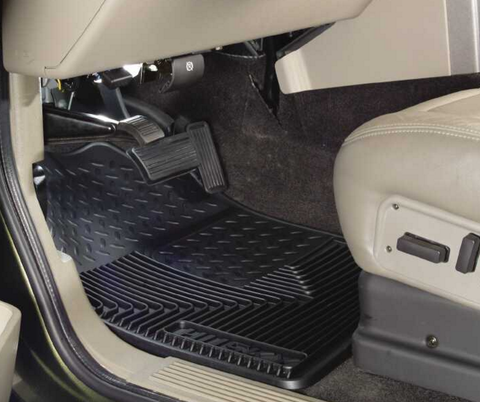 HUSKY CHEVY/GMC/CADILLAC/AVALANCHE FRONT FLOOR MATS BLACK 51181 - Auto-Truck-Accessories  - 1