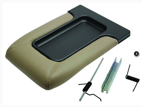 Replacement Center Console Lid 1999-2006 Chevy Silverado GMC Sierra, Avalanche Suburban, Tahoe, Yukon (Neutral/Tan)