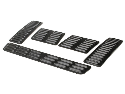 Jeep Hood Louver 5 PC Black Powder Coat GenRight - Auto-Truck-Accessories