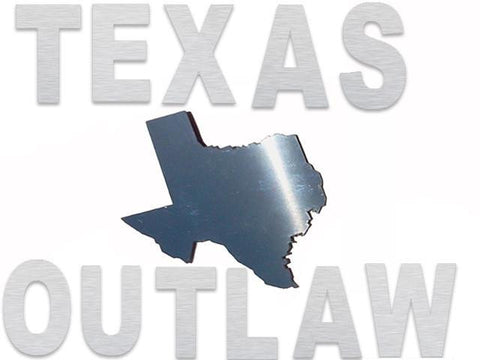 "QAA PART SGR11024 Fits Texas Outlaw Letters w/ Texas State (12 pieces: stainless steel emblems) (each letter is approximately 2""x2""/Texas is approximately 3.25""x3.5"") SGR11024"