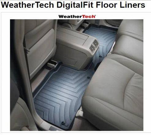 WeatherTech Black Rear rubber floor mats fits 2015-2016 Ford F150 - Auto-Truck-Accessories