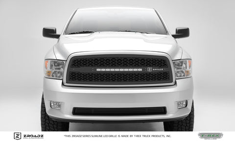 Ram 1500 Grille 09-12 Dodge Ram 1500 Mild Steel Powdercoat Black ZROADZ Series T-REX Grilles