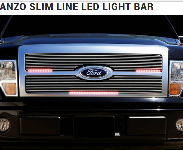 Anzo slimline led light bar universal fit for cars and trucks anzo slimline led light bar universal fit for grill underdash aloadofball Image collections