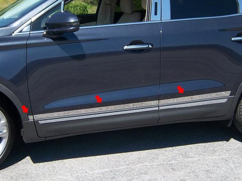 "QAA PART  AT55640 fits MKC 2015-2018 LINCOLN (6 Pc: Stainless Steel Accent Trim - 1.5"" - 1.75"" width, 4-door, SUV) AT55640"