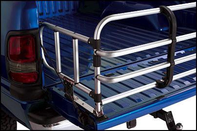 Top Line universal Fold-Down Bed Expander folds down to just five inches against the tailgate - Auto-Truck-Accessories  - 1