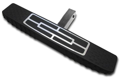 "2"" Stainless Steel Tongue / 4"" Flap Top Design / 24"" Length / Black Plastic Polyurethane Universal HitchStep by Broadfeet™"