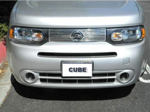 2009-2014 Nissan Cube Main front polished aluminum grille