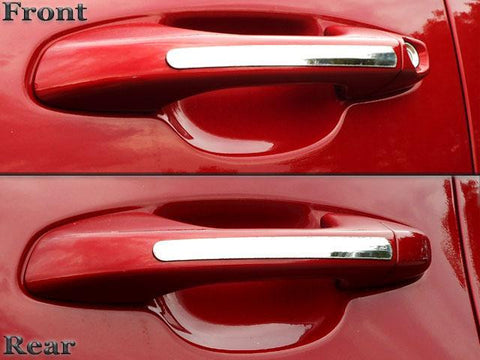 Qaa Part  Dh17836 Fits Sportage 2017-2018 Kia (4 Pc: Stainless Steel Door Handle Trim Accent Strip,