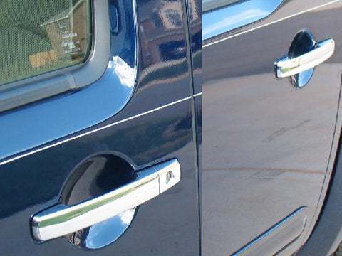 QAA PART DH25510 Fits FRONTIER (KINGCAB) 2005-2017 & PATHFINDER & XTERRA 2005-2012 NISSAN (8 Pc: ABS Plastic Door Handle Cover Kit NO pass key access, King Cab) DH25510
