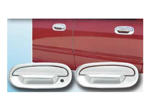 QAA PART  DH37305 fits F-150 1997-2003 FORD (4 Pc: ABS Plastic Door Handle Cover Kit NO pass key access, 2-door) DH37305