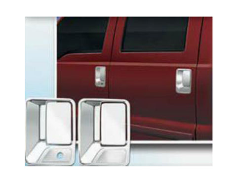 QAA PART DH39322 Fits F250 & F350 SUPER DUTY 1999-2016 FORD (4 Pc: ABS Plastic Door Handle Cover Kit w/ pass key access, 2-door) DH39322