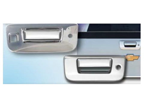 QAA PART  DH47184 fits SIERRA 2007-2013 GMC (2 Pc: ABS Plastic Tailgate Handle Cover Kit w/ camera access, 2/4-door) DH47184