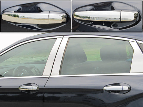 QAA PART DH54135 Fits IMPALA 2014-2017 CHEVROLET (8 Pc: ABS Plastic Door Handle Cover Kit, 4-door, NOT LIMITED) DH54135