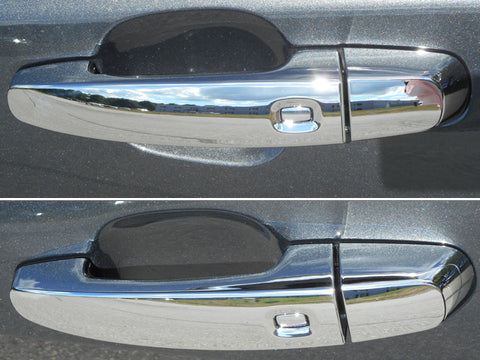 QAA PART DH54137 FITS IMPALA 14-19(NOT LIMITED), EQUINOX 18-19, MALIBU 16-19, TRAVERSE 18-19 CHEVROLET & ACADIA 17-19, TERRAIN 18-19 GMC(8 Pc: ABS Plastic Door Handle Cover Kit w/ 4 smart key access points, 4-door) DH54137
