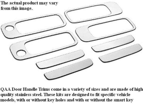 QAA PART  DH95540 fits MAXIMA 1995-1999 NISSAN (8 Pc: Stainless Steel Door Handle Trim Accent w/ 2 key access points, 4-door) DH95540