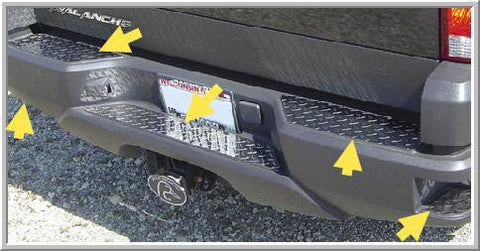 Diamond-Plate Stainless Steel Bumper Overlay Set for 2002-2006 Chevy Avalanche - Auto-Truck-Accessories  - 1
