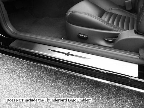 QAA PART  DS43670 fits THUNDERBIRD 2002-2006 FORD (2 Pc: Stainless Steel Door Sill Trim - NO logo cut out, 2-door) DS43670