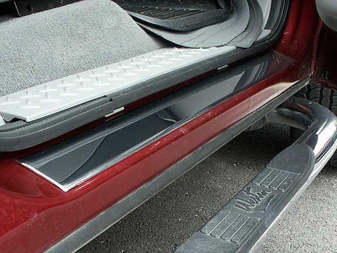 "QAA PART  DS44316 fits F-150 2004-2008 FORD (4 Pc: Stainless Steel Door Sill Trim - 2.63"" wide, Crew Cab) DS44316"