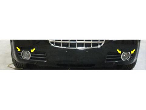 QAA PART  FV45760 fits 300 2005-2008 CHRYSLER (4 Pc: Stainless Steel Front Fog Light Trim, 4-door) FV45760