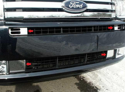 QAA PART  FV49340 fits FLEX 2009-2012 FORD (4 Pc: Stainless Steel Front Vent Trim, 4-door, SUV) FV49340