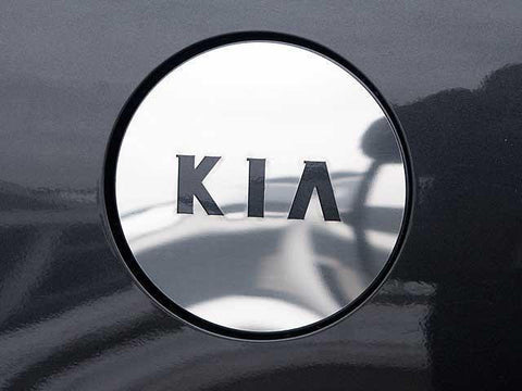 "QAA PART  GC24800 fits AMANTI 2004-2010 KIA (1 Pc: Stainless Steel Fuel/Gas Door Cover Accent Trim - w/ ""KIA"" cut out, 4-door) GC24800"