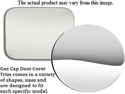 QAA PART  GC17100 fits CAMARO 1982-1992 CHEVROLET (1 Pc: Stainless Steel Fuel/Gas Door Cover Accent Trim, 2-door) GC17100