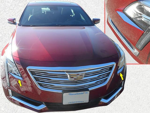 QAA PART  HL56230 fits CT6 2016-2018 CADILLAC (2 Pc: Stainless Steel Headlight Accent Trim, 4-door) HL56230