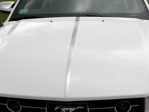 "QAA PART  HT45351 fits MUSTANG 2005-2009 FORD (1 Pc: Stainless Steel Hood Accent Trim - 1"" - 1.5"" tapered width, 2-door) HT45351"