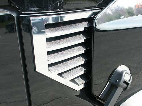QAA PART  HV43002 fits H2 2003-2006 HUMMER (2 Pc: Stainless Steel Cowl Vent Accent Trim , SUV, MUST NOT HAVE ANTENNA) HV43002