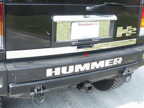 QAA PART  HV43010 fits H2 2003-2009 HUMMER (1 Pc: Stainless Steel Rear Tailgate Trim, SUV) HV43010