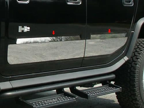 QAA PART  HV43013 fits H2 2003-2009 HUMMER (4 Pc: Stainless Steel Door Accent Trim , SUV) HV43013