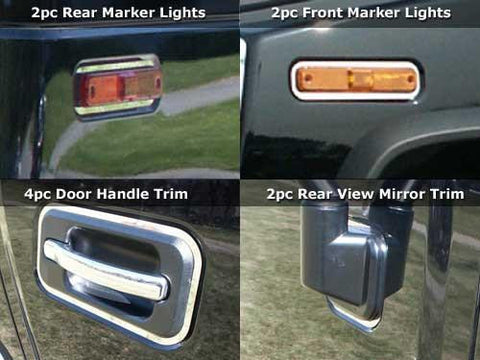 QAA PART  HV43015 fits H2 2003-2009 HUMMER (11 Pc: Stainless Steel Accent Trim Package, SUV) HV43015
