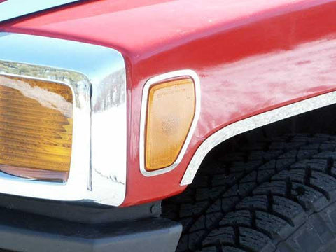 QAA PART  HV46305 fits H3 2006-2009 HUMMER (2 Pc: Stainless Steel Side Marker Light Accent Trim, SUV) HV46305
