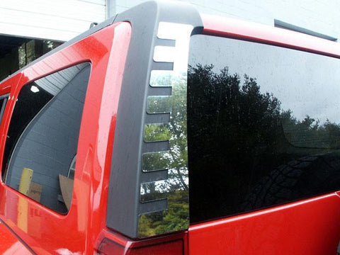 QAA PART  HV46311 fits H3 2006-2009 HUMMER (2 Pc: Stainless Steel Rear Window Trim, SUV) HV46311