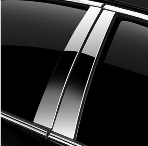 "Ici® Innovative Creations - 5"" X 24"" U-Cut Chrome Pillar Post Covers Fits All Vehicles Gm, Gmc, Fo"
