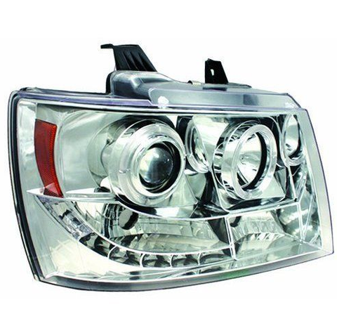 IPCW Projector head lamps with rings fits 2007-2014 Chevrolet Avalanche-Suburban-Tahoe - Auto-Truck-Accessories  - 1