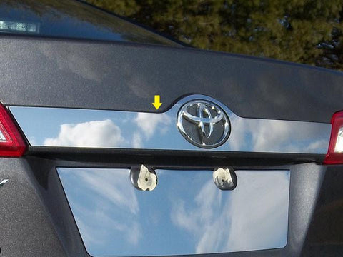QAA PART  LB12130 fits CAMRY 2012-2014 TOYOTA (1 Pc: SS License Bar Above Plate Accent Trim Strip, 4-door) LB12130