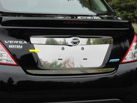 QAA PART  LP12530 fits VERSA 2012-2018 NISSAN (1 Pc: Stainless Steel License Plate Bezel, 4-door) LP12530