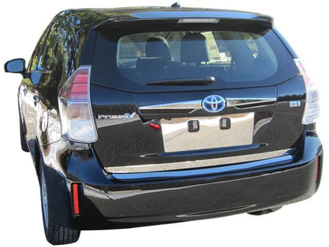 QAA PART  LP12700 fits PRIUS V 2012-2017 TOYOTA (1 Pc: Stainless Steel License Plate Bezel, 4-door, V) LP12700