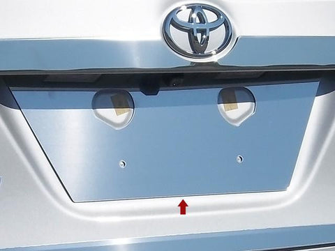 QAA PART  LP14112 fits COROLLA 2014-2018 TOYOTA (1 Pc: Stainless Steel License Plate Bezel, 4-door) LP14112