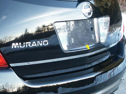 QAA PART  LP24590 fits MURANO 2004-2007 NISSAN (1 Pc: Stainless Steel License Plate Bezel, 4-door, SUV) LP24590