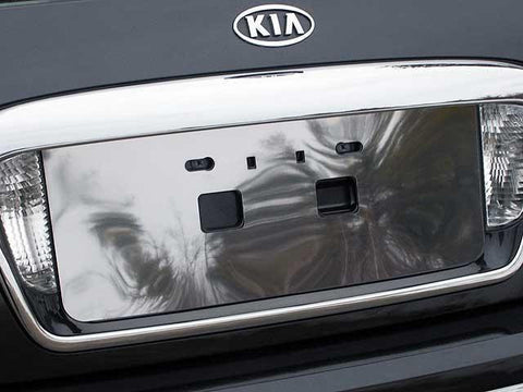 QAA PART  LP24800 fits AMANTI 2004-2010 KIA (1 Pc: Stainless Steel License Plate Bezel, 4-door) LP24800