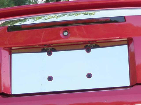 QAA PART  LP39351 fits MUSTANG 1999-2004 FORD (1 Pc: Stainless Steel License Plate Bezel, 2-door) LP39351