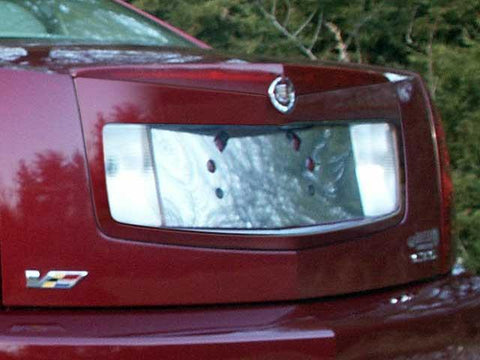 QAA PART  LP43250 fits CTS 2003-2004 CADILLAC (1 Pc: Stainless Steel License Plate Bezel, 4-door) LP43250