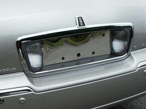 QAA PART  LP43680 fits TOWN CAR 2003-2007 LINCOLN (1 Pc: Stainless Steel License Plate Bezel, 4-door) LP43680