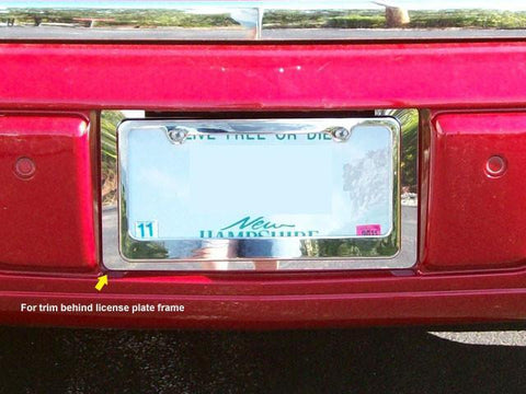 QAA PART  LP46245 fits DTS 2006-2011 CADILLAC (1 Pc: Stainless Steel License Plate Bezel, 4-door) LP46245