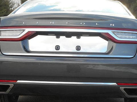 QAA PART  LP57680 fits CONTINENTAL 2017-2018 LINCOLN (1 Pc: Stainless Steel License Plate Bezel, 4-door) LP57680