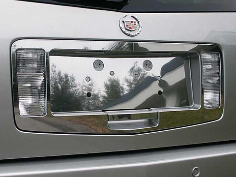 QAA PART  LPS44260 fits SRX 2004-2009 CADILLAC (3 Pc: Stainless Steel License Plate Surround, 4-door, SUV) LPS44260
