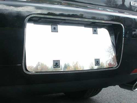 QAA PART  LPS46630 fits ZEPHYR 2006 LINCOLN (2 Pc: Stainless Steel License Plate Bezel w/ Surrounding Ring, 4-door) LPS46630